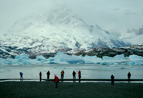 The group at Lago Grey's Iceberg Field